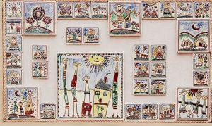 розпис на керамічних плитках. Роботи із колекції «Моя родина», 2015 р.